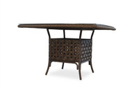 """Lloyd Flanders Haven 47"""" Square Umbrella Dining Table With Glass"""