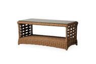 """Lloyd Flanders Magnolia 43"""" Rectangular Cocktail Table With Glass"""
