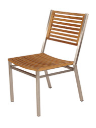 Barlow Tyrie Equinox Stainless & Teak Dining Side Chair