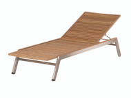Barlow Tyrie Equinox Stainless & Teak Chaise Lounge