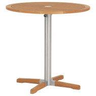 "Barlow Tyrie Equinox Stainless & Teak 40"" Round  Bar Table"
