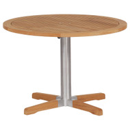 "Barlow Tyrie Equinox Stainless & Teak 40"" Round Pedestal Table"
