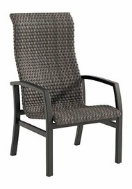 Tropitone Muirlands Woven High Back Dining Chair