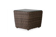 """Lloyd Flanders Largo 1pc  22"""" Rectangular Bunching Accent Table With Glass"""