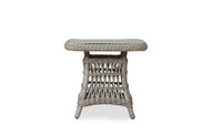 "Lloyd Flanders Mackinac 25"" Square Woven Top End Table With Lay On Glass"