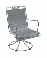 Woodard Briarwood High Back Swivel Rocker