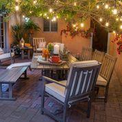 Woodard Woodlands Rectangular Umbrella Dining Table