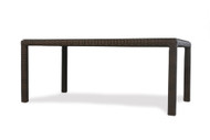 "Lloyd Flanders Mesa 72"" Rectangular Umbrella Dining Table With Glass"