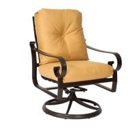 Woodard Belden Cushion Swivel Rocking Dining Arm Chair