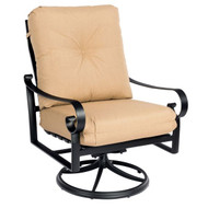 Woodard Belden Big Man's Swivel Rocking Cushion Lounge Chair