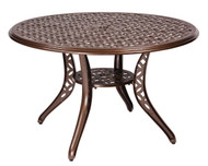 Woodard Casa Round Umbrella Dining Table