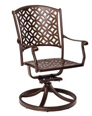 Woodard Casa Swivel Rocking Dining Arm Chair
