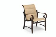 Woodard Belden Padded Sling Dining Arm Chair