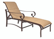 Woodard Belden Padded Sling Adjustable Chaise