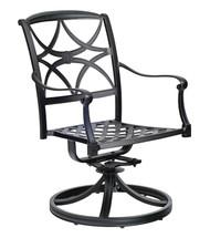 Woodard Wiltshire Swivel Rocking Dining Arm Chair