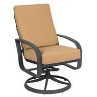 Woodard Cayman Isle Swivel Rocking Dining Arm Chair