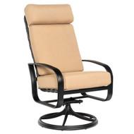 Woodard Cayman Isle High Back Swivel Rocking Dining Arm Chair
