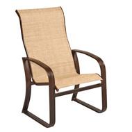 Woodard Cayman Isle Sling High Back Dining Arm Chair