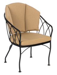 Woodard Delaney Dining Chair With Seat and Back Cushion