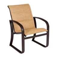 Woodard Cayman Isle Padded Sling Dining Arm Chair