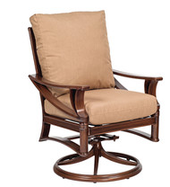 Woodard Arkadia Swivel Rocking Dining Arm Chair