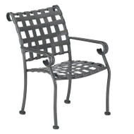 Woodard Ramsgate Strap Dining Arm Chair