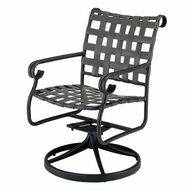 Woodard Ramsgate Strap Swivel Dining Arm Chair