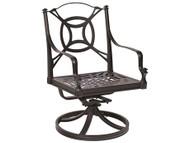 Woodard Isla Swivel Rocking Dining Arm Chair