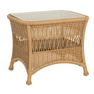Woodard Sommerwind End Table with Glass Top