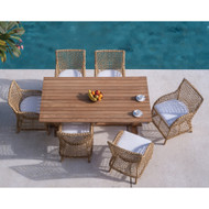 "Provence 73"" Table with Natural Finish with Six Provence Dining Arm Chairs"