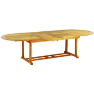 "Kingsley Bate Essex Teak 114"" Oval Extension Table"