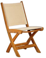 Kingsley Bate St Tropez Teak Outdoor Folding Dining Side Chair