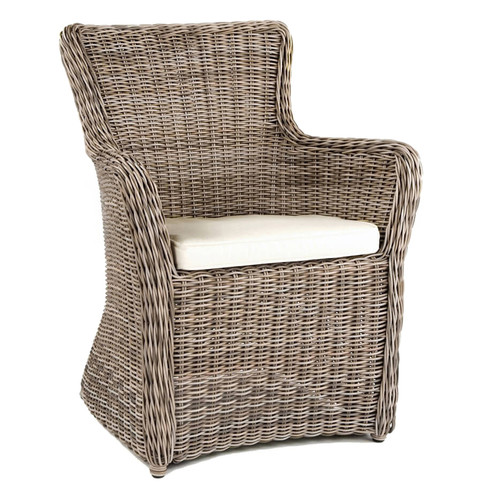 Kingsley Bate Sag Harbor Wicker Dining Arm Chair