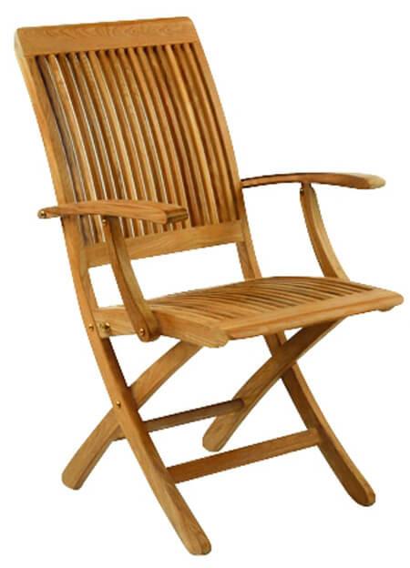 Kingsley Bate Monterey - Outdoor Teak Folding Arm Chair