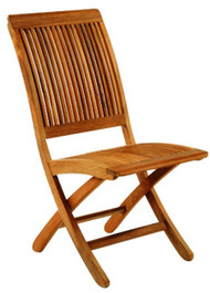 Kingsley Bate Monterey Outdoor Teak Folding Side Chair