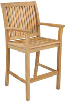 Kingsley Bate Chelsea Teak Outdoor Bar Chair