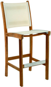 Kingsley Bate St. Tropez Teak Outdoor Bar Stool