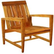 Kingsley Bate Amalfi Club Chair - Modern Teak Outdoor Club Chair