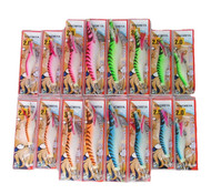 Hinomiya Ultrastick 16 Squid Jigs Four Sizes 2.0-3.5, 4 Colours Fluoro