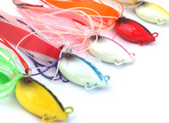 Chomp Lures Fishing Octopod Jigs 100g x 5 Colours Scented Skirt, Glow in the Dark