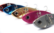Vibe Blade Bream Lures 7g X 5 Colours VMC Treble Hooks Red Blue Pink Gold Silver