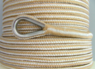 8mm x 100M Double Braid Nylon Anchor Rope, Great for Drum Winches, Super Strong