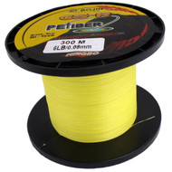 GSR PEFiber Braid Fishing Line 6lb 300m High Visibility Yellow 100% UHMWPE Dyneesi