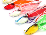 Chomp Lures Fishing Octopod Jigs 60g x 5 Colours Scented Skirt, Glow in the Dark