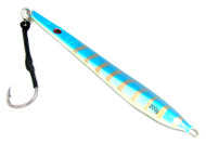 Chomp Fishing Lures Deep Water Kingfish Knife Jigs 200g Fluoro Belly Assist Hook