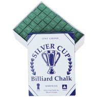 Silver Cup Chalk, Green, 144-Piece Box