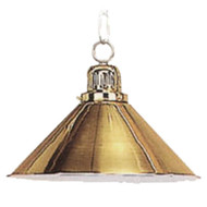 Sterling Solid Brass Pool Table Light, Single Shade