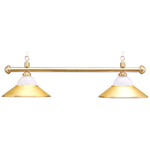 Sterling Deluxe Solid Brass Table Light, 44, 2 Brass/Glass Shades