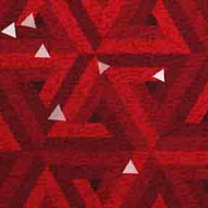 ArtScape 7' Red Triangles Pool Table Cloth