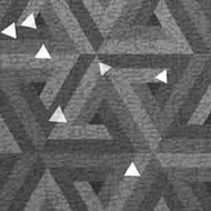 ArtScape 7' Silver Triangles Pool Table Cloth